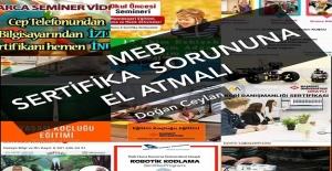 MEB SERTİFİKA SORUNUNA EL ATMALI