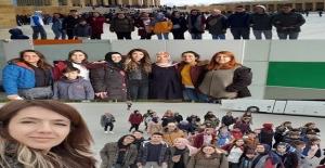 Sanat ve İngilizce eTwinning projesi öğretmenleri ve öğrencileri Ankara'da buluştular.