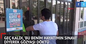 """Sınava Geç Kalan Öğrenci Gözyaşları İçerisinde Polise Yalvardı: """"Bu Sınav Benim Hayatım"""""""