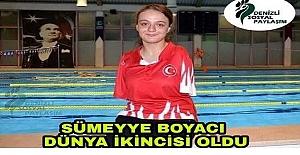 Dünya Paralimpik Yüzme Şampiyonası'nda Dünya ikincisi olan gururumuz Sümeyye Boyacı'yı tebrik ediyoruz..