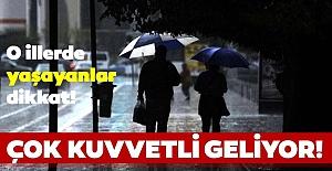 Meteorolojiden bu şehirlerde yaşayanlara şiddetli yağış ve fırtına uyarısı