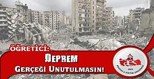 MEHMET ALPER ÖĞRETİCİ: DEPREM GERÇEĞİ UNUTULMASIN!