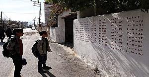 Evinin Sokak Duvarlarındaki Argo Yazıları Silip Duvara, İlkokul Öğrencilerinin Faydalanacağı Matematik Tablosu Oluşturdu