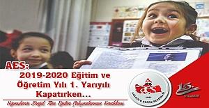 2019-2020 Eğitim ve Öğretim Yılı 1. Yarıyılı Kapatırken…