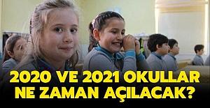 2020 2021 okullar ne zaman, hangi tarihte...