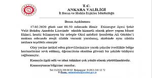 Başkent Ankara'da Okul Müdürünü Vuran Güvenlik Görevlisi Hayatını Kaybetti