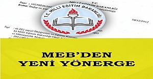 Milli Eğitim Bakanlığı Yeni Bir Yönerge Yayınladı