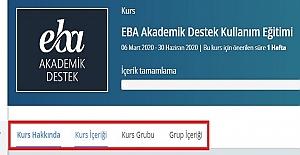 Öğretmenler EBA Akademik Destek Kullanım Eğitimi Başladı