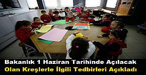 Bakanlık 1 Haziran Tarihinde Açılacak Olan Kreşlerle İlgili Tedbirleri Açıkladı