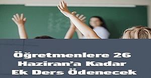 MEB'den Öğretmenlere Haziran Ayı Ek Ders, Telafi Eğitimi ve Seminer Ücreti Ödemesi Yazısı