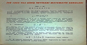 İTÜ 1955 Yılı Giriş İmtihanı Matematik Sorular