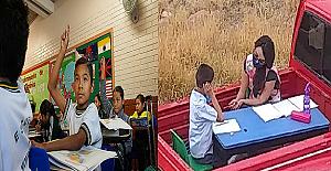 Salgın Nedeniyle Okullar Kapanınca, Her Gün Otizmli Öğrencileri İçin Saatlerce Yol Gidip Ders Anlatan Öğretmen