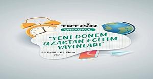 26 Eylül - 02 Ekim Tarihleri Arası TRT EBA Ortaokul Yayın Akışı