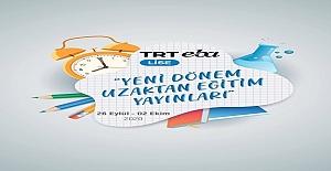26 Eylül - 02 Ekim TRT EBA Yeni Dönem Uzaktan Eğitim Yayınları (Güncel Liste)
