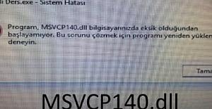 EBA Canlı Ders MSVCP140.dll Hatası Çözümü