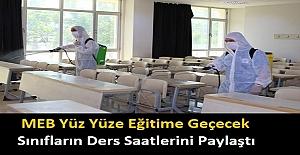 MEB Yüz Yüze Eğitime Geçecek Sınıfların...
