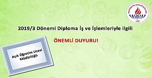Diploma İş Ve İşlemleri İle İlgili MEB'den Duyuru