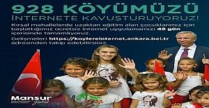 Mansur Yavaş Uzaktan Eğitim Döneminde Tüm Köylere Ücretsiz İnternet Sağlayacak