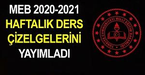 2020-2021 Yılı Meslek Lisesi 10. Sınıf Haftalık Ders Çizelgesi
