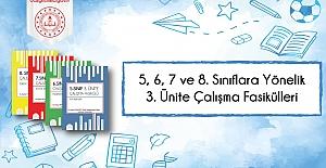 5, 6, 7 ve 8. Sınıf Düzeylerinde 3. Ünite Çalışma Fasikülleri Yayımlandı