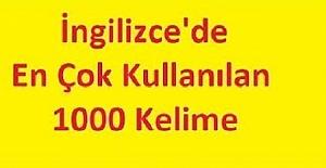 İNGİLİZCE'DEKİ EN ÖNEMLİ 1000 KELİME