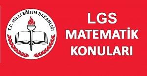 LGS Matematik Konuları ve Soru Dağılımı 2021