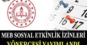 Millî Eğitim Bakanlığı Sosyal Etkinlik İzinleri Yönergesi