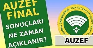 AUZEF final sınav sonucu ne zaman açıklanacak?