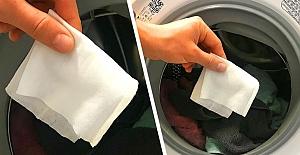Çamaşır Makinesine Neden Islak Mendil...