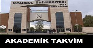 İstanbul Üniversitesi Akademik Takvimi 2021