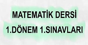ORTAOKUL MATEMATİK 1.DÖNEM 1.SINAVLAR