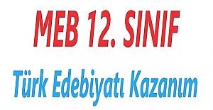 12. SINIF TÜRK DİLİ VE EDEBİYATI KAZANIM TESTLERİ