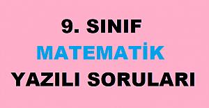 9. Sınıf Matematik 2. Dönem 1. Yazılı Sınav Soruları