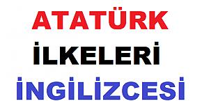Atatürk İlkeleri İngilizce