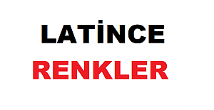 LATİNCEDE RENKLER – COULEURS EN LATIN