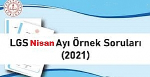 LGS 2021 NİSAN AYI ÖRNEK SORU KİTAPÇIĞI