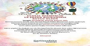 23 Nisan Ulusal Egemenlik ve Çocuk Bayramında Öğrenciler İçin Elektronik Sertifika