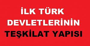 İlk Türk Devletlerinin Teşkilat Yapısı