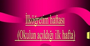 İLKÖĞRETİM HAFTASI ŞİİRLERİ