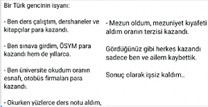 Bir Türk Öğrencinin Haklı İsyanı
