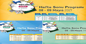 TRT EBA Kanallarında Hafta Sonu Yayınları