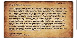 Albert Camus NOBEL alınca ilkokul öğretmenine böyle bir mektup yazmış
