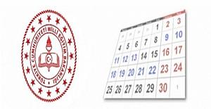 2021-2022 Eğitim Öğretim Yılı Çalışma Takvimi