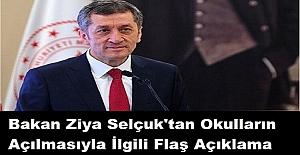Bakan Ziya Selçuk#039;tan Okulların...