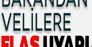 Milli Eğitim Bakanı Ziya Selçuk'tan Flaş Uyarı