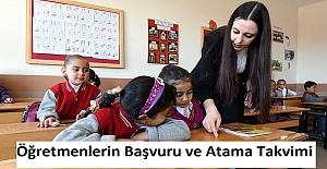 Öğretmenlerin Başvuru ve Atama Takvimi