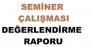 2021 Eylül Seminer Çalışma Raporları