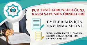 PCR TESTİ ZORUNLULUĞUNA KARŞI DİLEKÇE