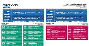 TRT EBA TV Güncel Yayın Akışı