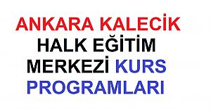 Ankara Kalecik Halk Eğitim Merkezi Kurs Programları